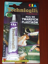 STRONG CLEAR ADHESIVE GLUE - HARD PLASTIC ABS TR ,EVA, PERSPEX ACRYLIC GLASS