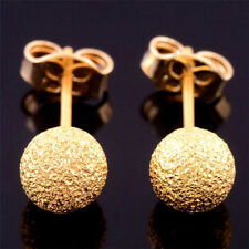Gold Filled Round Balls Stud Earrings