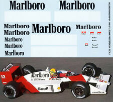 1/12 MCLAREN HONDA MP4/4  AYRTON SENNA  PROST 1988 DECALS TB DECAL TBD35