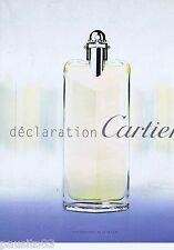 PUBLICITE ADVERTISING 115 2001 Cartier 'Déclaration' parfum