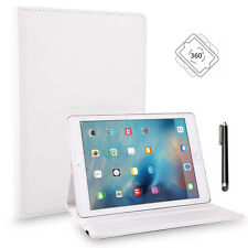 """360° Rotating Leather Stand Case Smart Cover Protector for iPad Pro 9.7"""" (White)"""