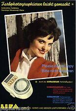 Exposición cuchillo lifa publicitarias de 1955 Augsburg farbmeßsystem cámara ad ßß