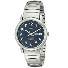 Timex Men's Easy Reader Blue Dial Expansion Bracelet Stainless Steel Watch