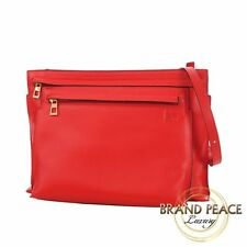 Loewe large double pouch shoulder bag calf leather red Free Shipping