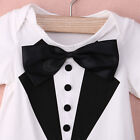 0-2Y Newborn Baby Boys Bow Short Sleeve Romper Bodysuit Playsuit Outfit onesie