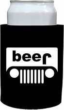 Coolie Junction Beer Truck (jeep) Thick Foam Old School Funny Can Coolie