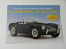 Danbury Mint 1962 SHELBY AC COBRA 260 Brochure Pamphlet Mailer