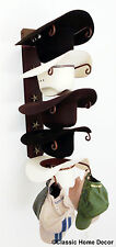 American Made Cowboy Hat Holder with Stars Powder Coated Rust
