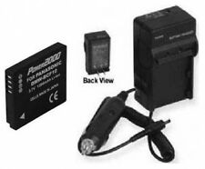 Battery + Charger for Panasonic DMC-TS1GH DMC-TS1S DMCTS1G DMCTS1GH DMCTS1S