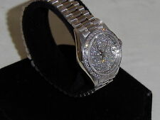 LADIES GORGEOUS SOLID 18K WHITE GOLD APROX. 3+ CTS. GORGEOUS DIAMONDS
