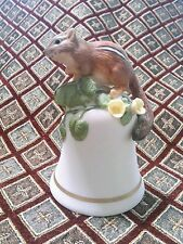Franklin Miniture Animal Bell 1983 Peter Barret Porcelain Baby Chipmunk EUC
