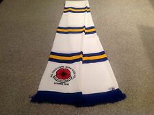 LEEDS UNITED  EMBROIDED POPPY SCARF. LEST WE FORGET.LTD EDITION..FREE POST