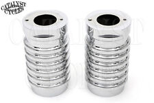 CHROME BILLET FORK SLIDERS FOR HARLEY FORK SLIDER COVERS ON TOURING MODELS 80-14