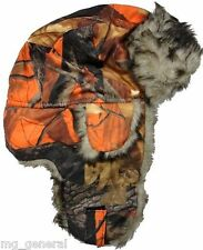 Orange Camouflage Bomber Hat Trapper Hat Hunting Winter Hat Camo Hat NWT