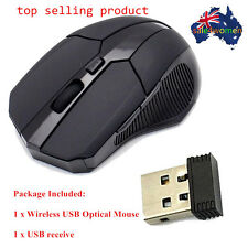 2.4 GHz Wireless Optical Mouse Mice USB 2.0 Receiver for PC Laptop Black ##