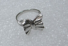 STERLING SILVER BOW BUTTERFLY RING SIZE 6 N55-Z