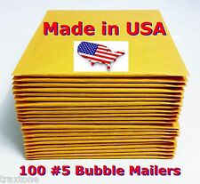 100 #5 10.5x16 Bubble Mailers Padded Envelopes Bags Selfseal DVD #5