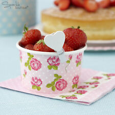 VINTAGE ROSE TREAT TUBS - Small Bowls -Afternoon Tea Party -Pink- RANGE IN SHOP!