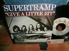 "supertramp""give a little bit""single7""1977 or.ger.am:ams5465 + encart juke-box"