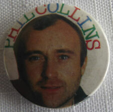 "PHIL COLLINS Old/Vtg 1980`s Button Badge Pin 25mm-1"" #NB107"
