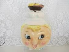 Vintage Musical (works) Cookie Jar~ Pixie Boy Chef w Cookie Hat~Hat has cracks