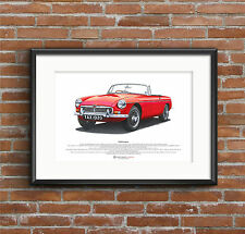 MGB Roadster ART POSTER A3 size