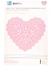 Lifestyle Crafts QuicKutz DOILY HEART DIE 4x4 Cutting Thin Metal Craft Paper NEW