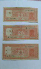 20 Rs Orange colour back side Parliament issue note