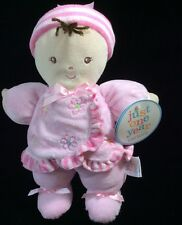 Just One Year Pink Flowers Plush Doll Soft Baby Toy Carters  10""