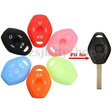 Silicone 3 Buttons Remote Key Fob Case Cover For BMW E46 E39 E63 E36 E81X5 Z3 Z4