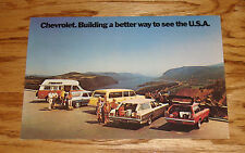 Original 1972 Chevrolet Station Wagon Large Post Card 72 Chevy