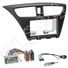 Honda Civic FK2/FK3 ab02/2014 Doppel 2-DIN Radioblende+ISO Adapter+Antennen Set