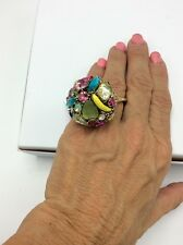 $55 Betsey Johnson Fruit Calypso Cocktail Ring