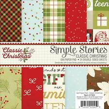 Simple Stories ~ CLASSIC CHRISTMAS ~ 6x6 Paper Pad ~ 24 pcs