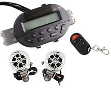 Motorcycle SD Audio Radio Handlebar Stereo Amplifier Speaker w/Remote for Harley