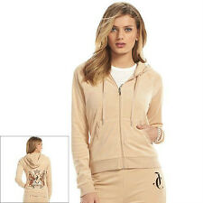 Juicy Couture Terry Hoodie - Women's Sz M Color Cuban Sand