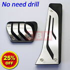 Sport Stainless Steel Foot Pedals Pads Covers M Performance for Automatic AT