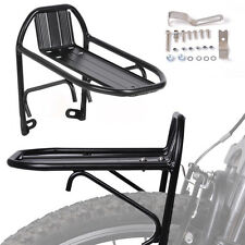New Black Cycling Bike Alloy Bicycle Front Rack Panniers Bag Bracket