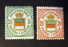 "GERMANIA ,GERMANY HELIGOLAND 1876 "" Stemma Tricolore al Centro"" 2V cpl set MH*"