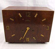 """Vintage Style King Mantel Clock Wooden 10"""" Wood Shelf German Cuckoo Parts Repair"""
