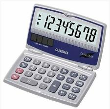 Casio 8-Digit Folding Solar Battery Silver Calculator for Pocket or Purse