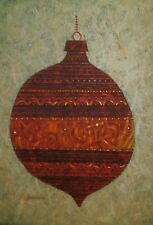 Christmas Tree Ornament Casein Painting-1960s-William Gorman
