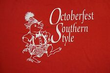 Vintage October Fest Southern Style Dancing Pig Fun Beer Party T Shirt XL