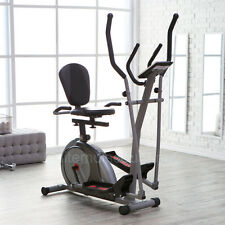 Trio Trainer Elliptical Machine Magnetic Recumbent Exercise Bike Seat Dual Cross