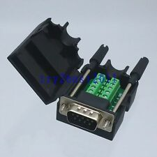 Connector DB9 9pin plug pin D-SUB Terminal Board Plastic Cover solderless screw