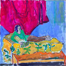 Fauvist Expressionist Female Portrait Signed Mystery Artist Unger Painting