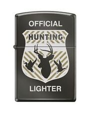 Zippo cm6296 RARE official hunting badge black ice Lighter