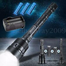 Elfeland 8000lm T6 3x LED Flashlight Torch + 3 x 18650 Battery + Charger