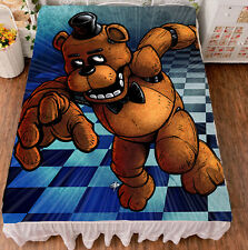 """Game Five Nights at Freddy's Flat Bed Sheet Bedding Blanket Gift 79x59"""" #V-99"""