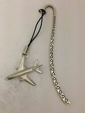 McDonnell Douglas DC-10 C13 Aircraft Pattern Bookmark 3D English pewter charm